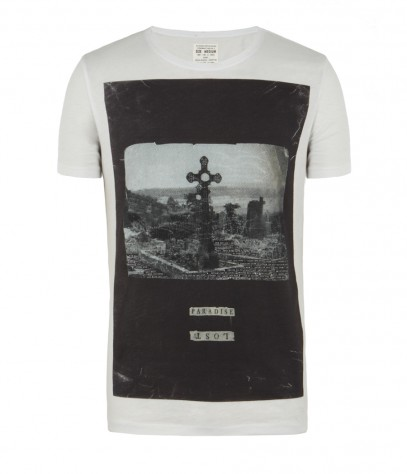 Paradise Cut Collar Crew T-shirt, Men, Graphic T-Shirts, AllSaints Spitalfields