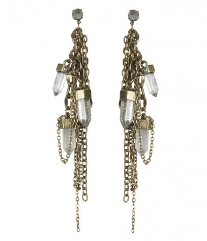 AllSaints Xenolith Quartz Earring