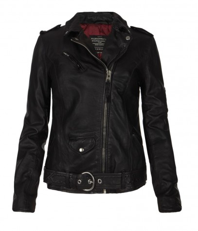Valley Leather Biker Jacket, Women, Leather, AllSaints Spitalfields