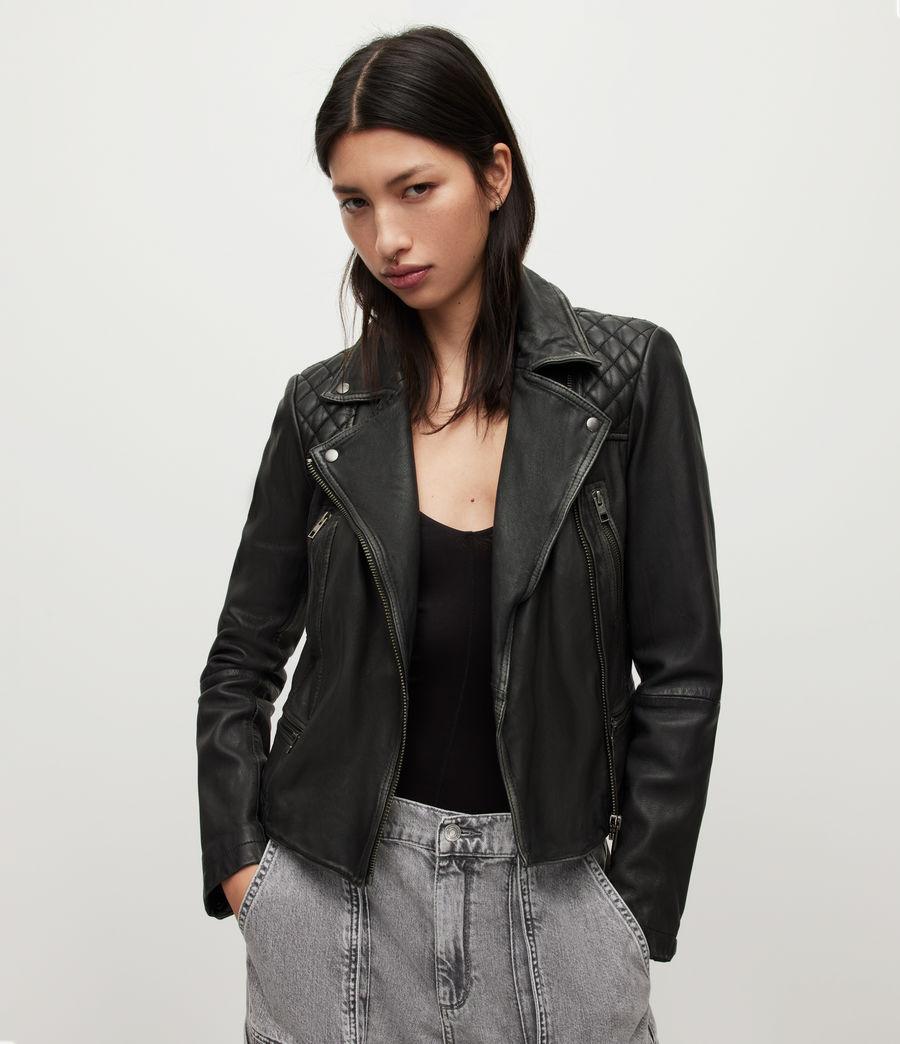 allsaints women 39 s leather jackets iconic pieces. Black Bedroom Furniture Sets. Home Design Ideas